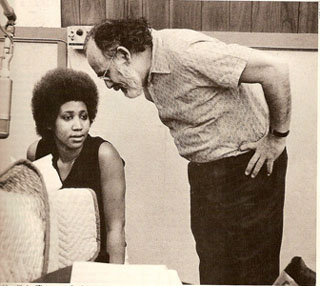 Jerry Wexler with Aretha Franklin