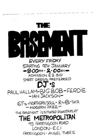 London The Basement 1986