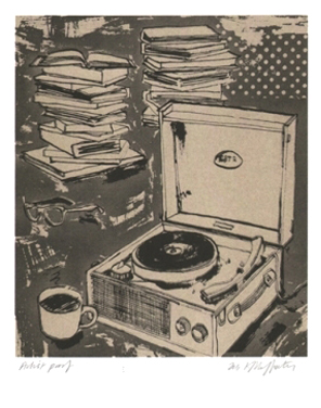 Music book reader print