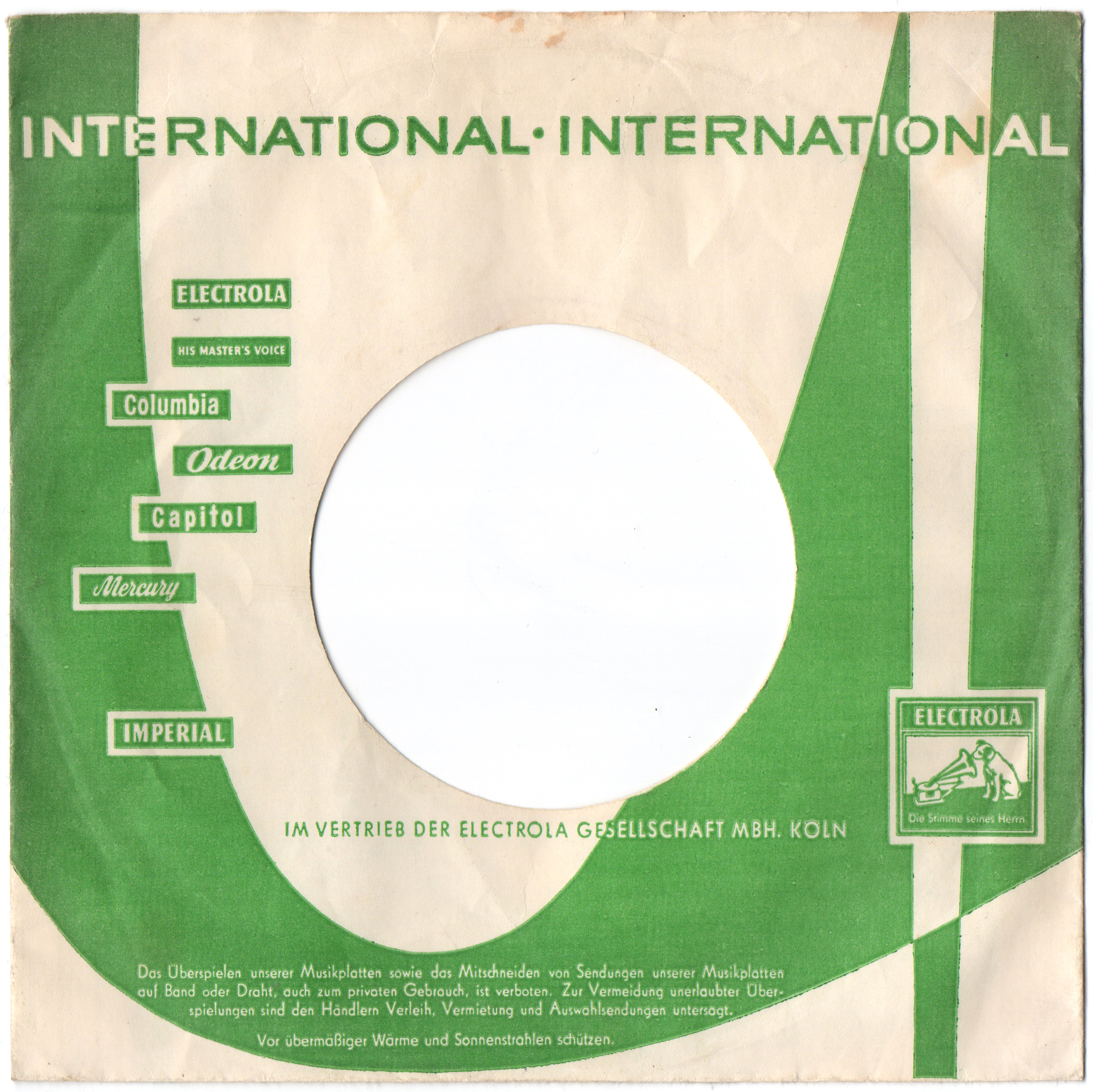 Record Envelope: labels a, b, c