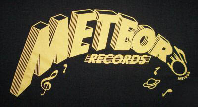 Meteor records t-shirt from Planet Bop