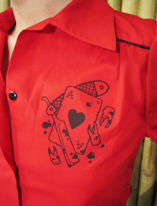 Razor red rockabilly shirt