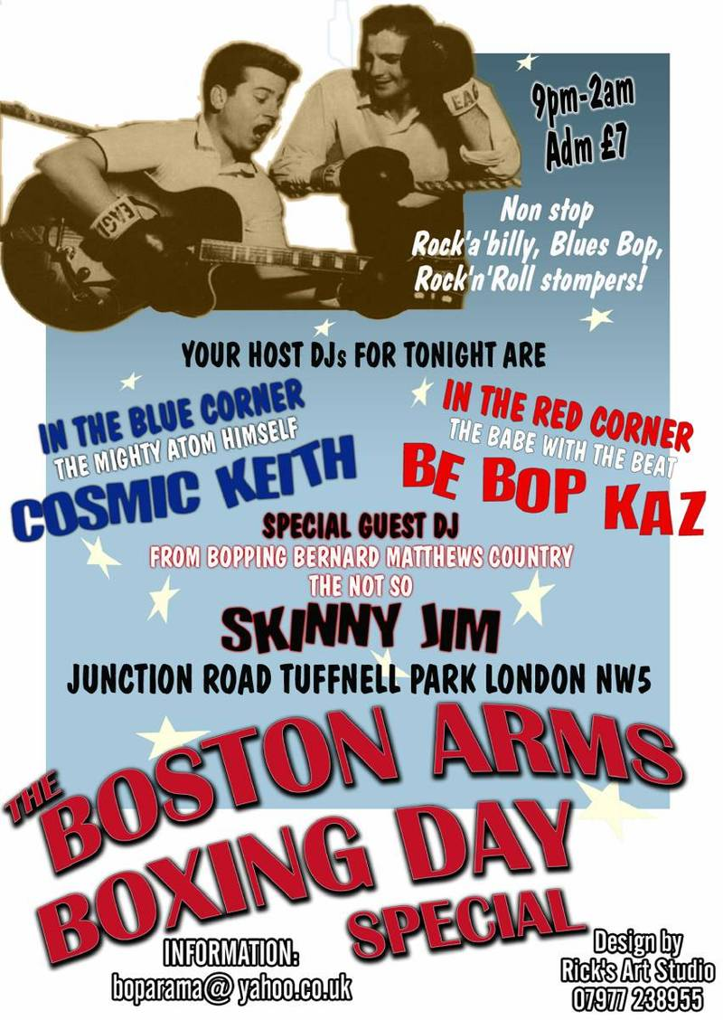 Boston arms boxing day special